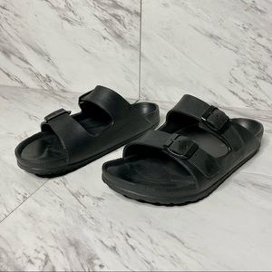 PRIMARK Birkenstock-Inspired Black Sandal SZ 10
